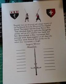Memorial Tournament Scroll, AS 50, Pennsic
