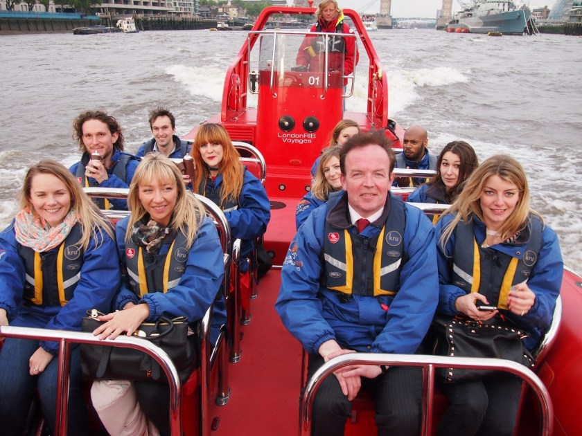 There's me cowering on the right. The boat ride was top fun, but your hair will not be cute at the end.