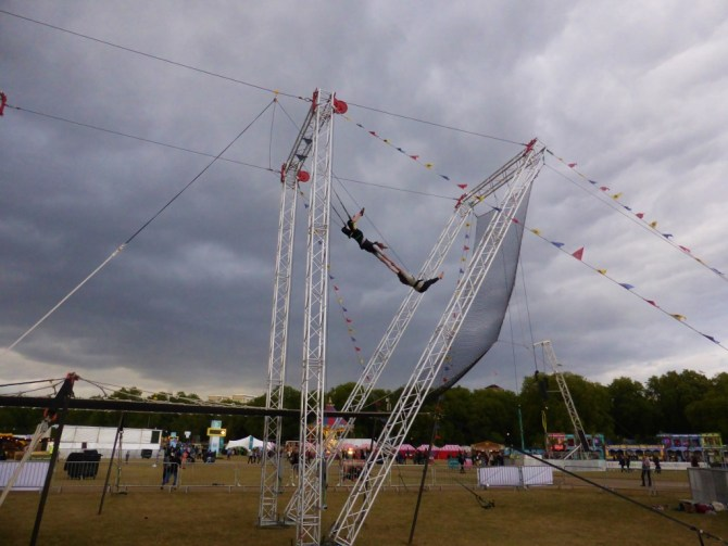 Gorilla Circus flying trapeze London Hyde Park