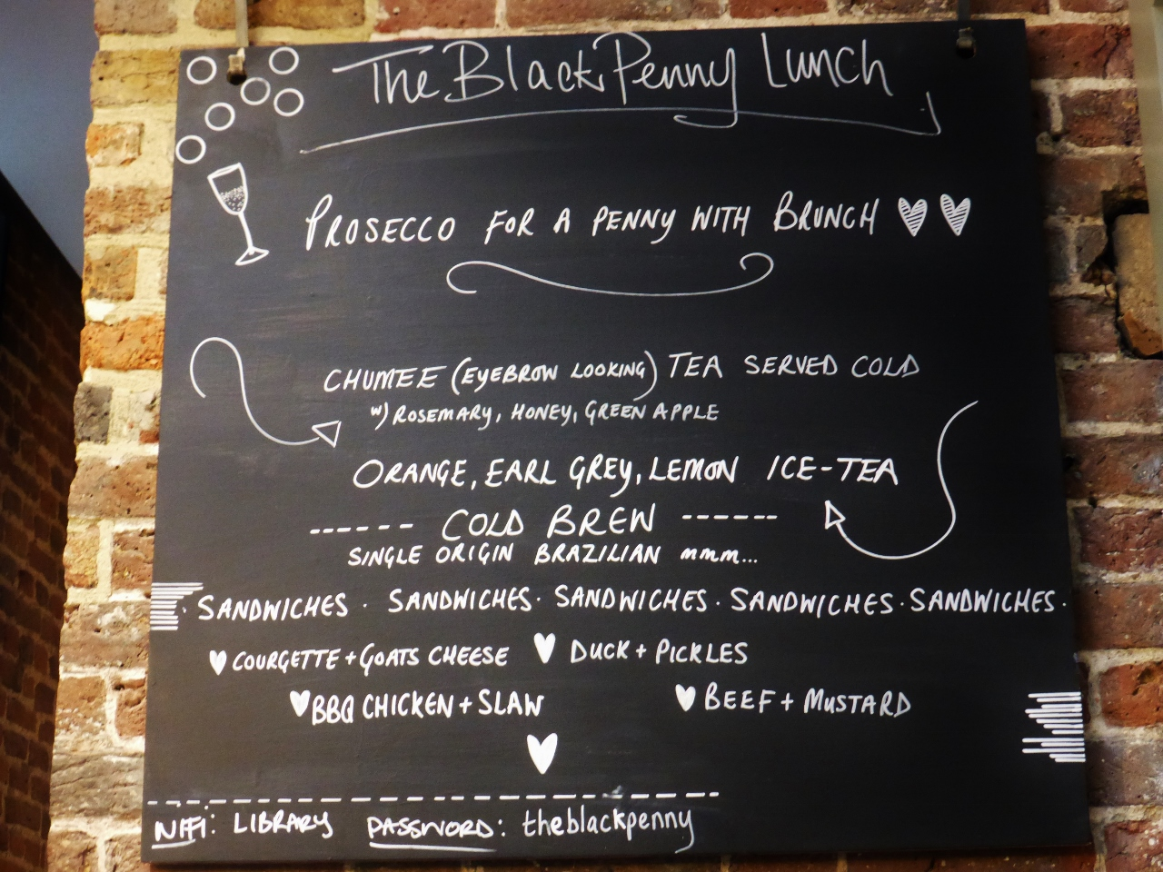 The Black Penny brunch Covent Garden Holborn