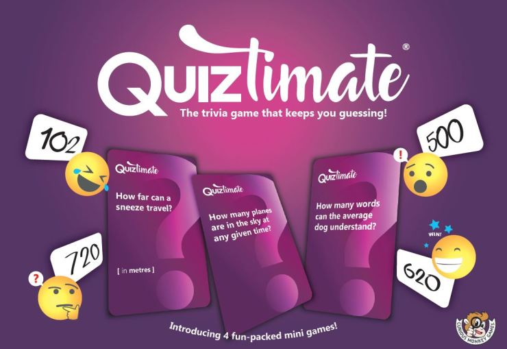 Quiztimate - The trivia game that keeps you guessing! - Box Front