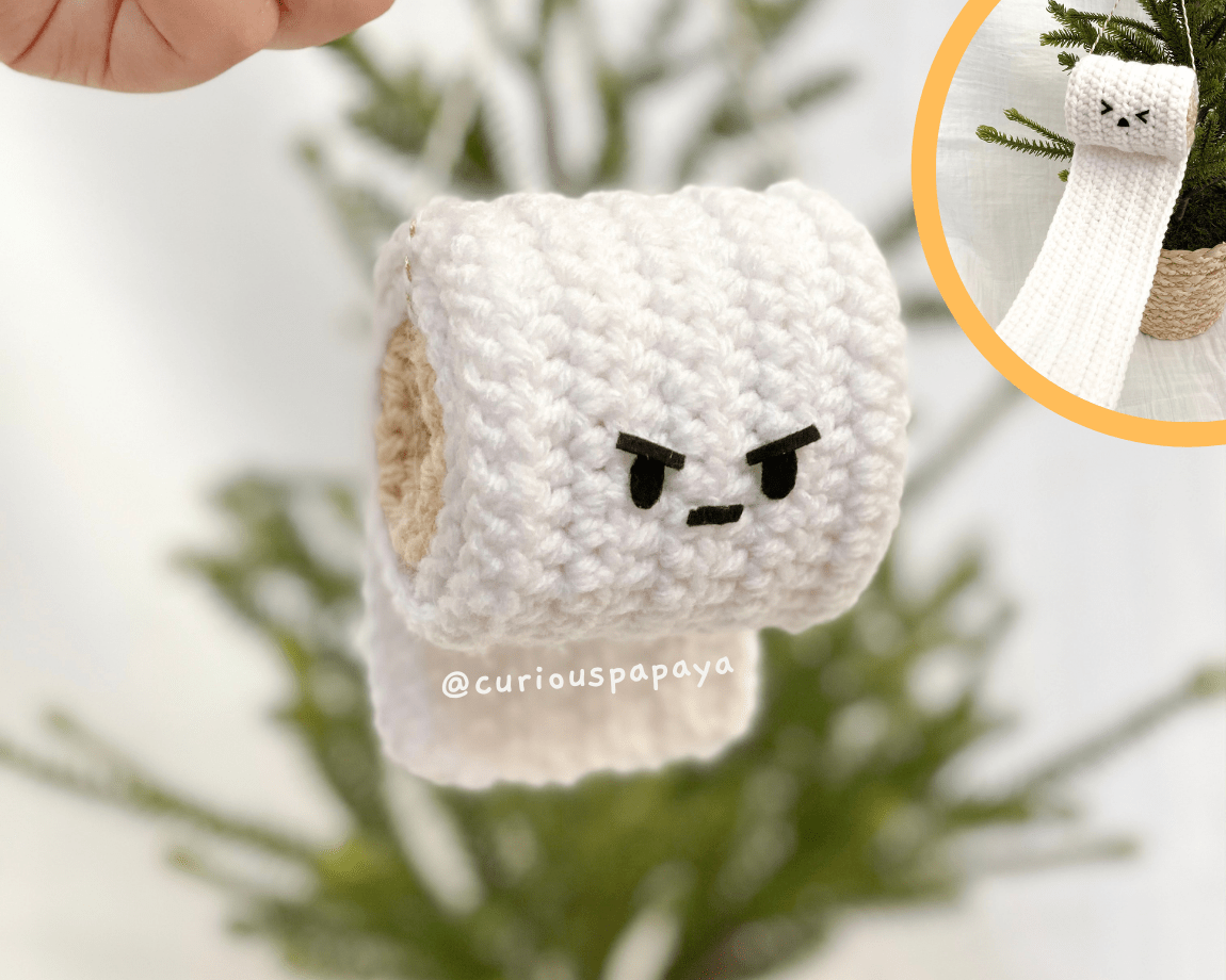 FREE Angry TP Roll Crochet Pattern