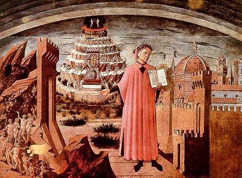 Dante with mountain
