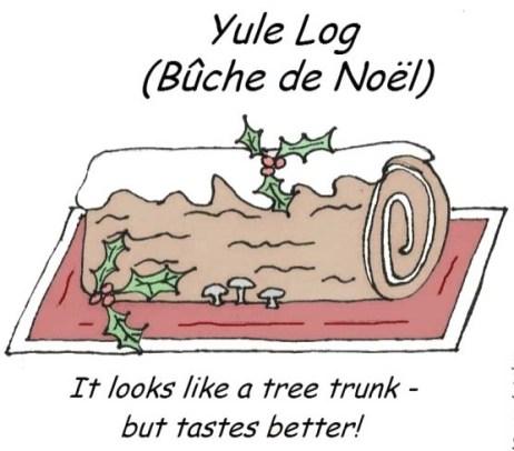 13 desserts Yule log w text