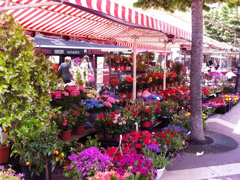 Cours Saleya flower market, Nice France