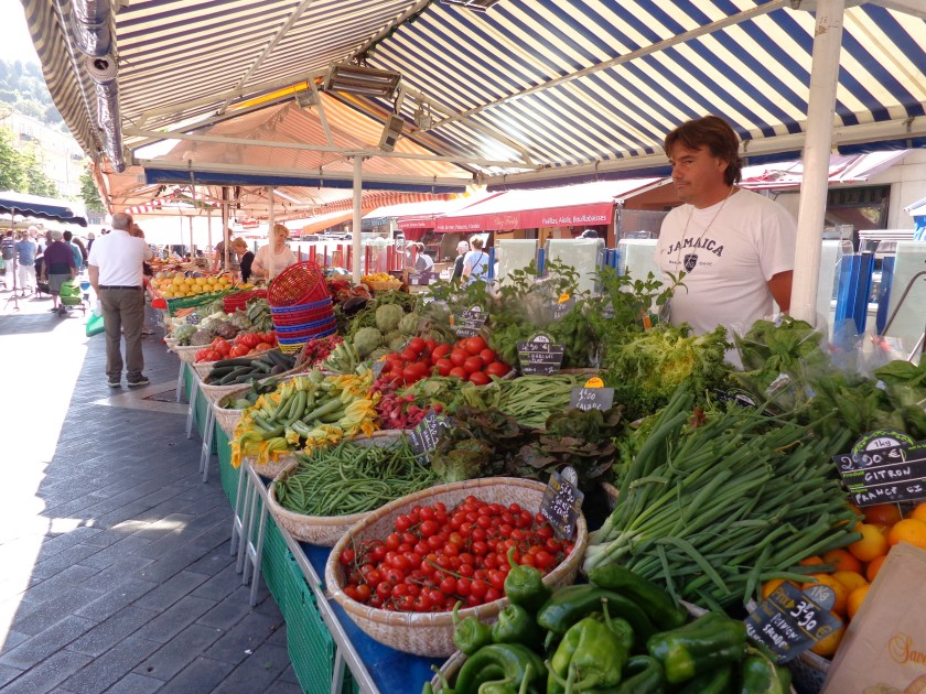 Cours Saleya flower market, Nice France