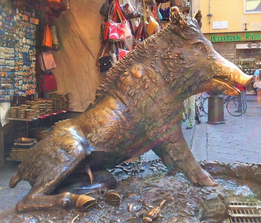 Il Porcellino, the bronze pig fountain, Florence, Italy
