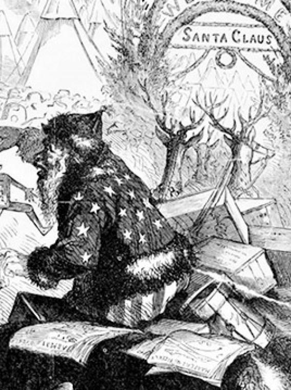 Santa by Nast 1863