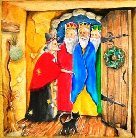 Befana with the three kings