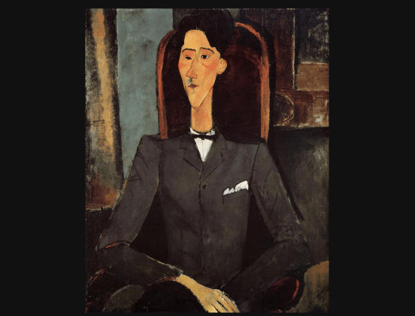 Jean Cocteau by Modigliani, 1916