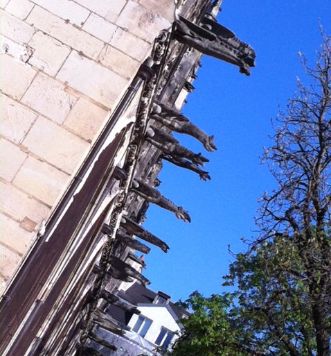 Gargoyles galore on St Severin, Paris