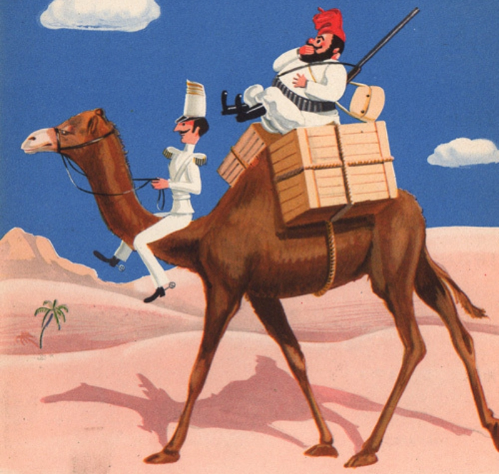 Tartarin de Tarascan and camel - Neurotensyl advert