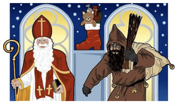 Saint Nicolas and Pere Fouettard, Father Whipper