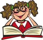 girl w book