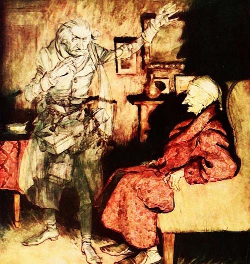 A-Christmas-Carol-Scrooge-and-ghost