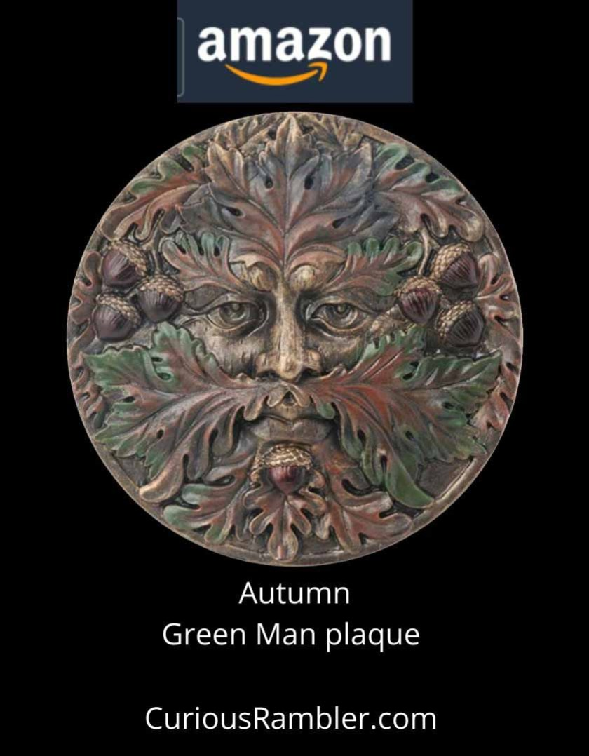 Plaque of Autumn Green Man. Click to order from Amazon.