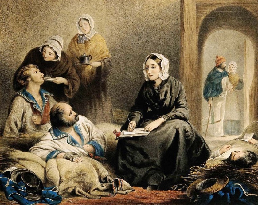 Florence Nightingale caring for sick