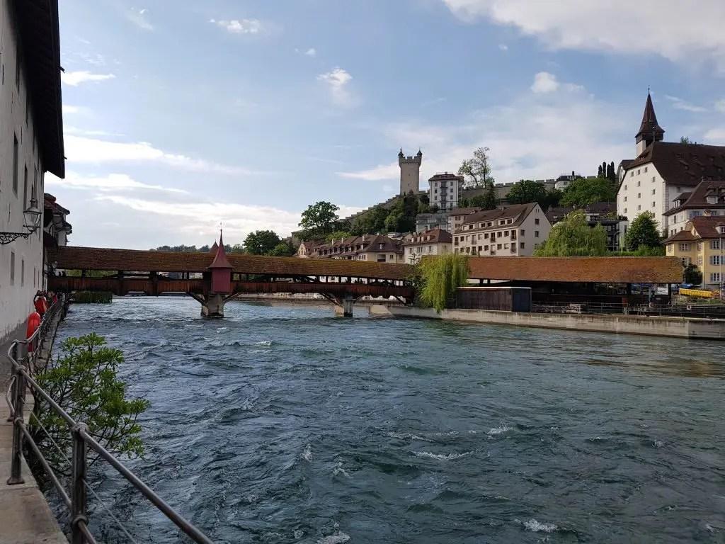 Covered bridge in Lucerne