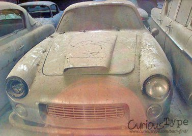 aston martin dusty with missing headlamp found in a barn