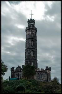 Scotland Edinburg Calton Hill Nelson Monument