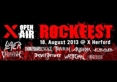 X-Rockfest 2013 Herford Header