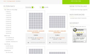 Myphotocollage Auswahlfilter