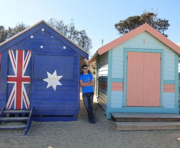 Melbourne bathing boxes