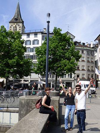 Reunited with our friends in Zurich