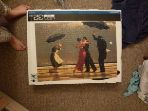 Friday 12-02-16. Finished the Vettriano puzzle.