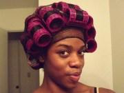 roller set wrap natural hair