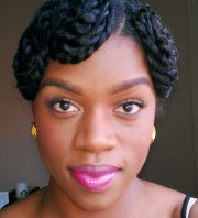 1950 pin curl twist style inspiration