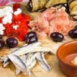 Recept Borrelplank met gegrilde paprika