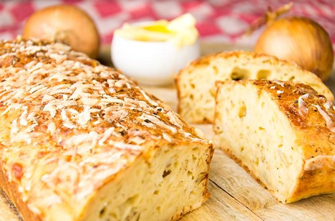 Recept Cake met kaas en ui