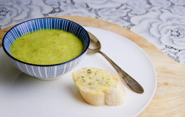 Recept Courgette met komkommer soep