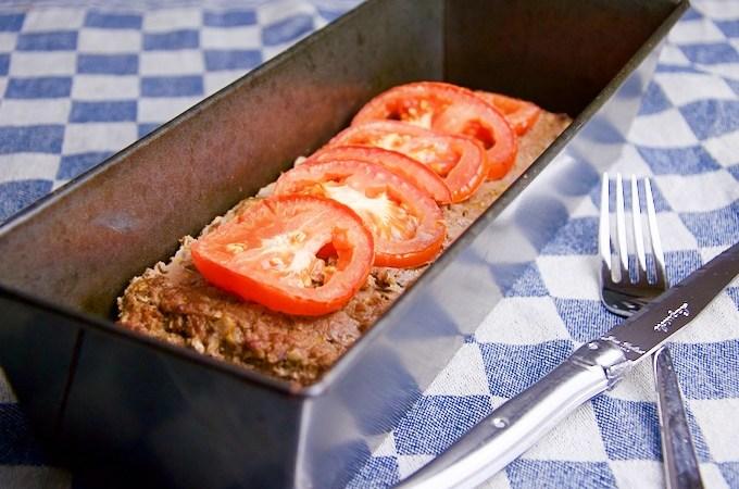 Recept Gehaktbrood met tomaten