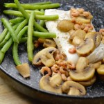 Recept Schelvis met wittewijn jus en champignons