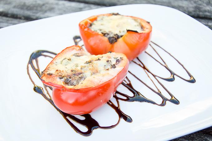 Recept gevulde paprika met gorgonzola