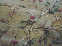fabulous holly fabric around the tree base