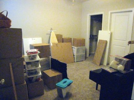 but there's a craft/guest room now - yeah!