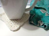 latest crocheted coaster