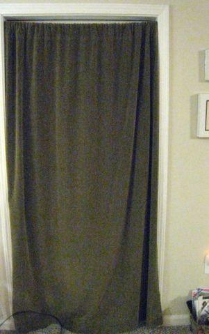 this cotton velvet curtain is always across the patio door