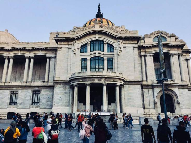 The Palacio de Bellas Artes is a top tourist site in Mexico City.