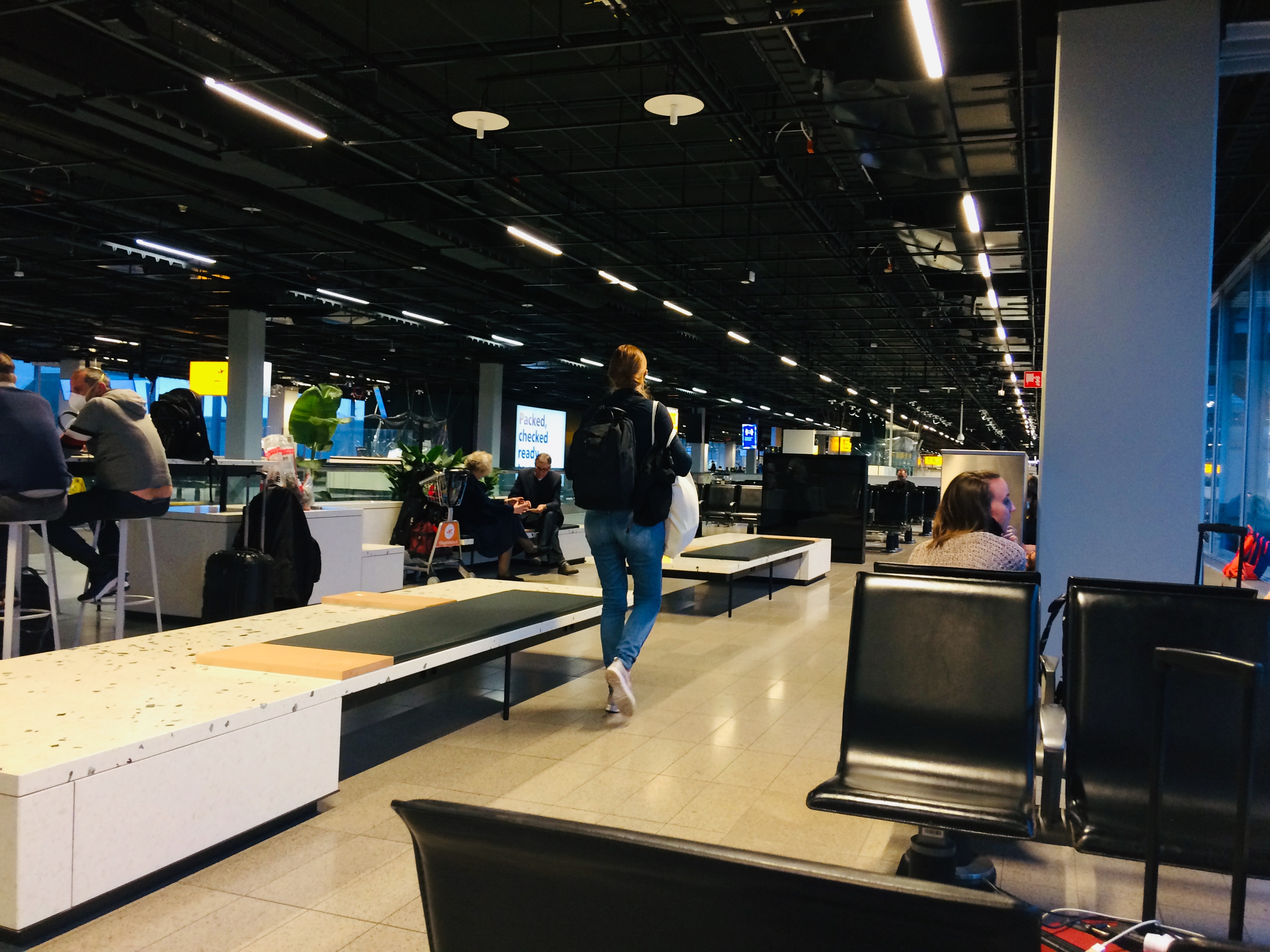 Heading to Tanzania: Waiting at the gate in Schiphol