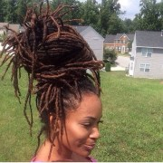 easy and gentle updos locs