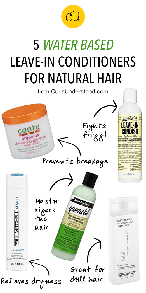 5 Water Based Leave In Conditioners For Natural Hair