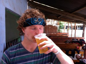 3 hours on a bike and a beer is very refreshing.