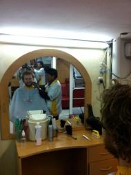 Getting rid of the beard.