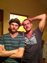 Mustached up and ready for Bolivia and the death road