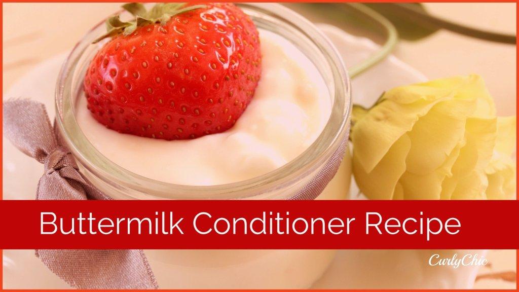 DIY Buttermilk Conditioner Recipe
