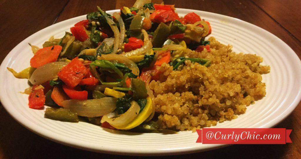 mixed veggies spinach quinoa recipe